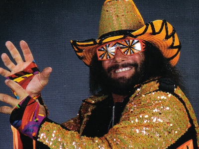 Video of Randy Savage talking to Sting backstage in his normal voice